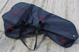 Portable outboard carry bag.