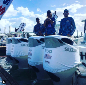 Suzuki official branded DF350 Vented outboard Splash cover.