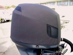 Yamaha F115 vented cowling cover, showing front vents.