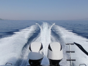 Yamaha F100 pair of Vented outboard Splash covers.