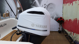 F300 White Vented outboard Splash cover