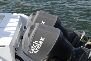 Yamaha F150 Twin vented outboard covers.