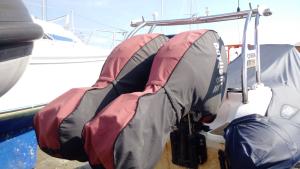 Mercury Verado storage and towing covers.