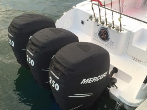 Mercury 300 Verado official vented outboard cowling cover.