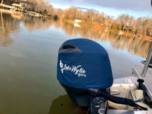 Yamaha F100 custom branded vented outboard cover #AustralianMade