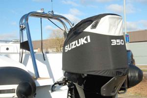 Suzuki DF350 black vented outboard Splash covers.