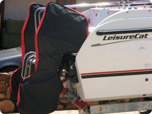 Suzuki DF175 Full storage and towing covers.