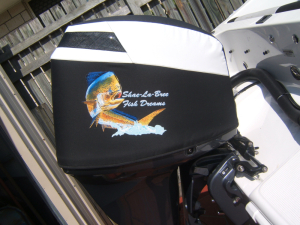 Yamaha F150 custom printed cowl cover with OCA Fish.