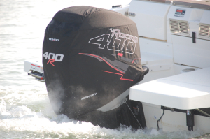 Mercury 400R official vented outboard cowling cover.