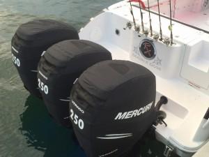 Mercury 300 Verado official vented outboard cowling cover.