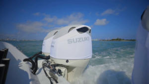 Suzuki DF350 vented outboard Splash covers.