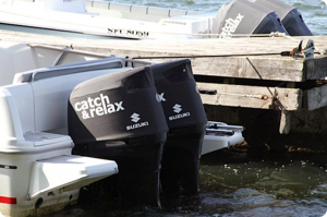 Suzuki DF300 Vented outboard Splash covers.