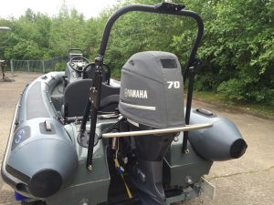 Yamaha F70  Official vented outboard Splash cover.