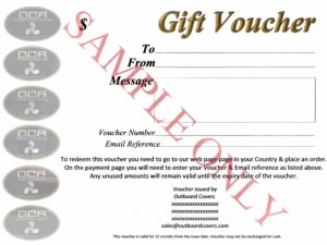 Gift Voucher SAMPLE ONLY low