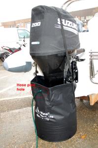 Flush Mate - outboard motor flushing bag