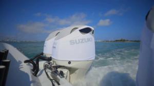 Suzuki DF350 vented outboard Splash covers.