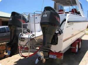 Suzuki DF175 pair of Vented outboard Splash covers.