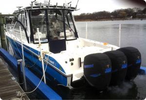 Triple Verado Vented outboard Splash covers.