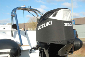 Suzuki DF350 black vented outboard Splash covers.