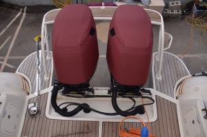 Suzuki DF175 Vented outboard Splash cover pair.