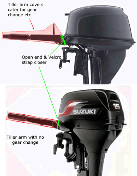 Outboard Covers & Accessories Tiller arm covers