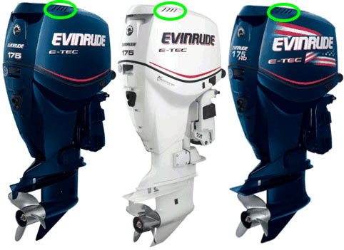 ETec 200hp motor look