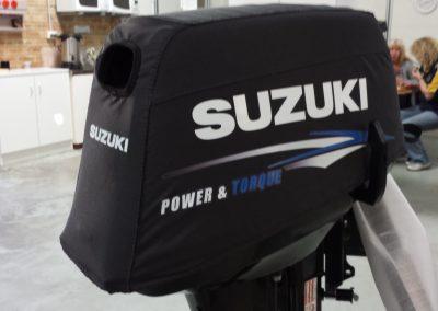 Suzuki 2 stroke vented outboard cover.