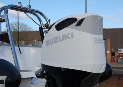 Suzuki DF350 white vented outboard cover